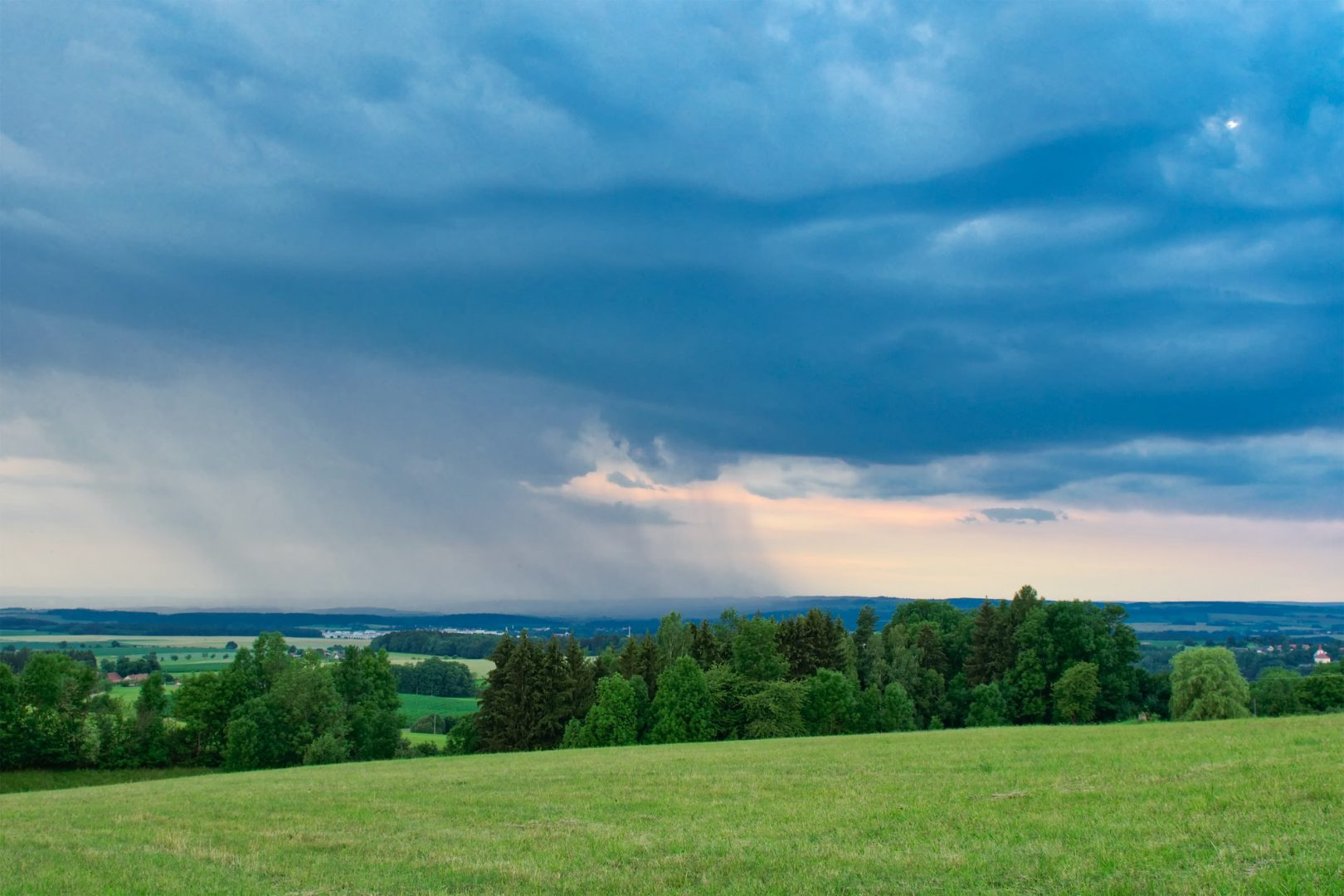 Beautiful storm clouds over land